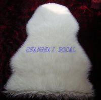 faux wool synthetic sheepskin area rug