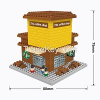 346PCS newest mini blocks with coffee shop design