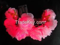LED floral light rose wedding holiday garland home cloth flower lighti
