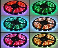 New!!! RGB Led Strip Waterproof 5M SMD 5050 300 LEDs/Roll +24 keys IR Remote+12V 6A Power Adapter