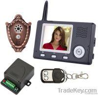 Hotsale 3.5 inch wireless video doorphone with peephole