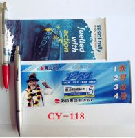 Scroll pen with banner