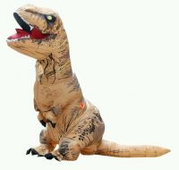 Adult T-Rex Inflatable Jumpsuit Dinosaur Blow Up Halloween Costume Outfit Stag