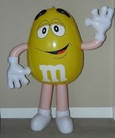 Yellow Large M&M's 4' - Inflatable - Store Display - AWESOME