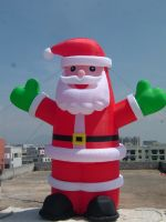 Inflatable Portable Christmas Santa Claus Indoors Outdoors Lawn Yard Decoration