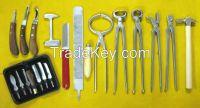"""SGOC"" Farrier Tools Kit 13 Pieces Chrome Vanadium With Carrying Bag"