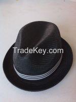 straw hat, fedora hat