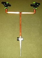 Copper Double T-Shaped Impact Lawn & Garden Sprinkler