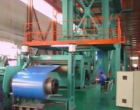 Aluminum coil processing and color coating production line