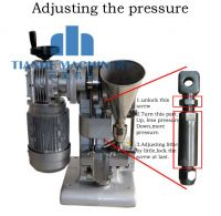 Single punch tablet press machine TDP1 auto type Leight weight