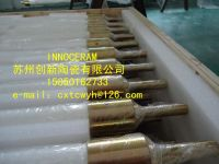 fused silica ceramic roller for the glass transportation