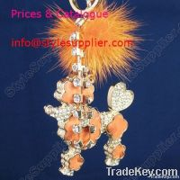 Wholesale Crystal Bag Charms, Crystal Key Ring, Leather Bag Charms,