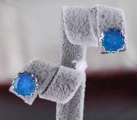 925 sterling silver opal Stud  earing E16