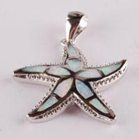 opal sea star pendant P41