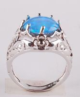 925 sterling silver opal Ring R101