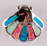 opal sea shell pendant P49
