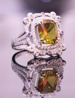 Alexandrite engagement ring YFR186