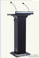 digital lectern, smart lectern with gooseneck microphone