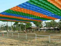 colorful sunshade net for kindergarten,playground,parking areas