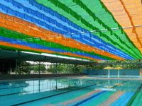colorful sunshade net for kindergarten,swimming pool,parking areas