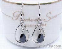 925 Sterling Silver Gemstone Dangle Earring