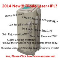AES-HR808, Diode Laser + IPL for Hair removal and unwanted hair!