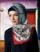 100%Silk turban/muslim scarves
