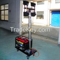 portable mobile generator set lights towers