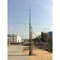 15m pneumatic telescopic masts for antenna/radio/ telecommunications