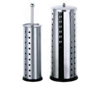 stainless steel toilet brush holder and tissue holder