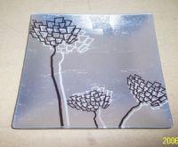 glass tray, vase, photo frame, clock, candle holder, coaster