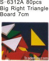 7CM 80PCS  Big right triangle board