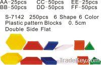 Plastic Pattern Blocks Double Side Flat