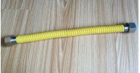 Gas Hose with yellow pvc cover