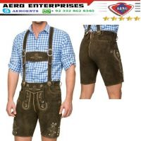 Top Quality Latest German Bavarian Oktoberfest Halloweens Lederhosen Short