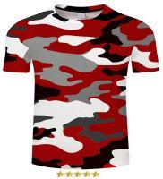 Premium Quality Red Camo Tshirt Men