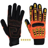 Impact Protective Mechanic Gloves for Oil and Gas Industries / Safety Work Gloves for Oil Field