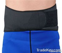 Neoprene back support with plastic strays