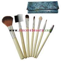 cosmetic  brush, bamboo handle brush, makeup brush, brush set