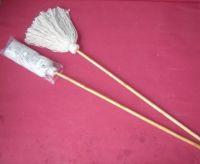 Wooden handle mop, easy mop
