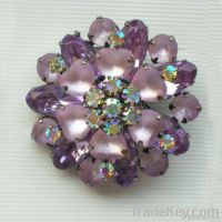 wedding invitations fashion brooch with crystal flower