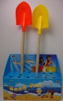 Summer Toys, Beach Tool Toys Plastic Shovel With Wooden Stem
