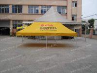 Advertisement printed tent
