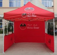 folding pop up commercial tent with custom printing
