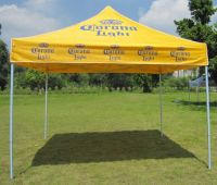 Folding tent with logo printing