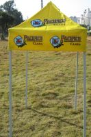 Folding instant tent for advertisement