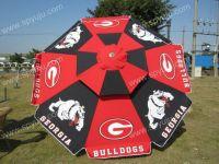 Garden umbrella with printed logo