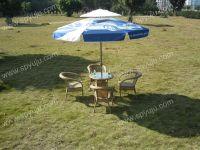 Garden umbrella for advertisement
