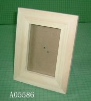 Unfinished wooden photo frames