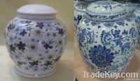 Ceramic urns porcelain urn